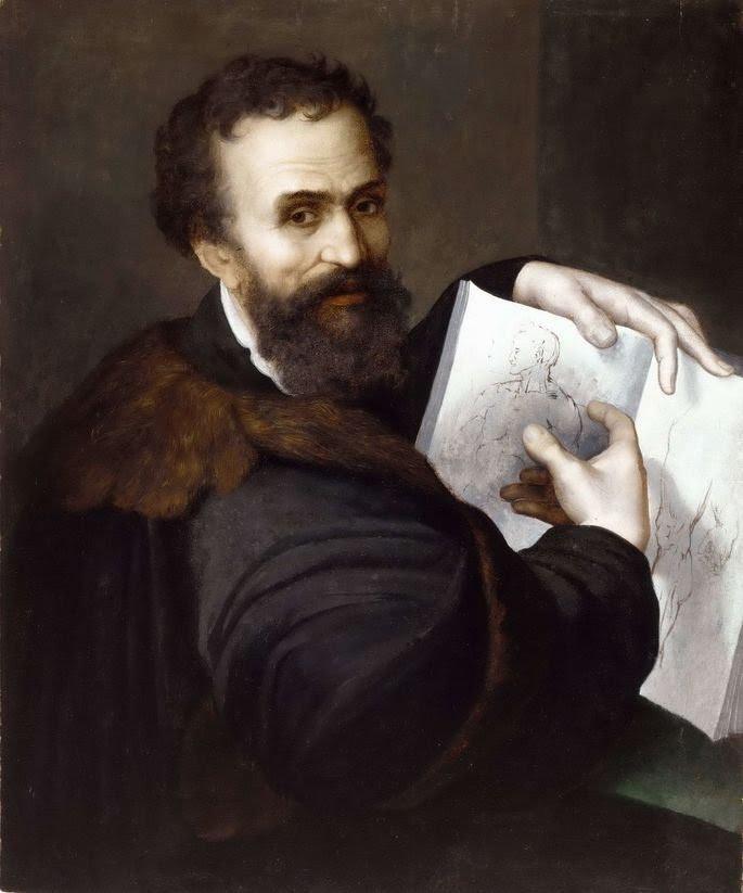 Sebastiano del Piombo: Retrato de Michelangelo, c. 1520–1525